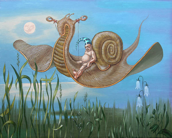 Painting - Coastal Elegy by Victor Molev
