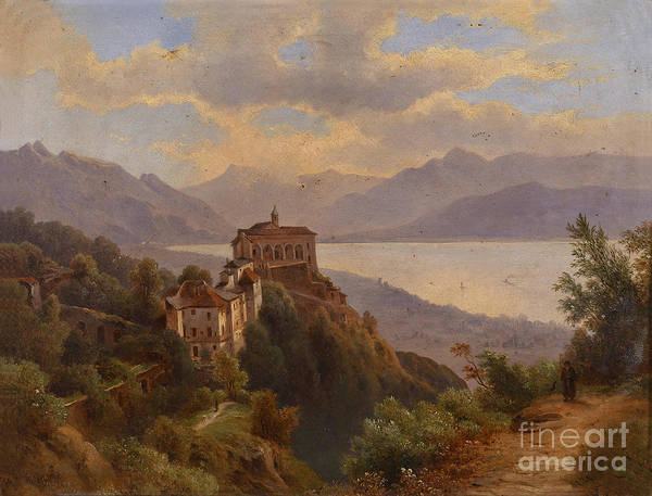 Circa Painting - Coastal Landscape by Celestial Images