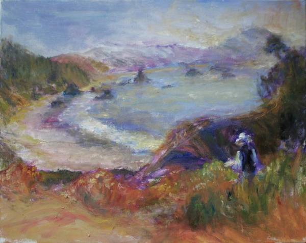 Painting - Coastal Painter - Port Orford - Contemporary Impressionist Art by Quin Sweetman