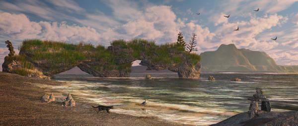 Digital Art - Coastal Paradise by Mary Almond