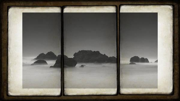 Wall Art - Photograph - Coastal Rocks Triptych by Daniel Hagerman
