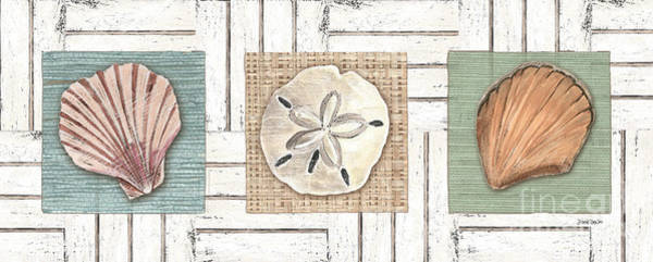Wall Art - Painting - Coastal Shells 1 by Debbie DeWitt