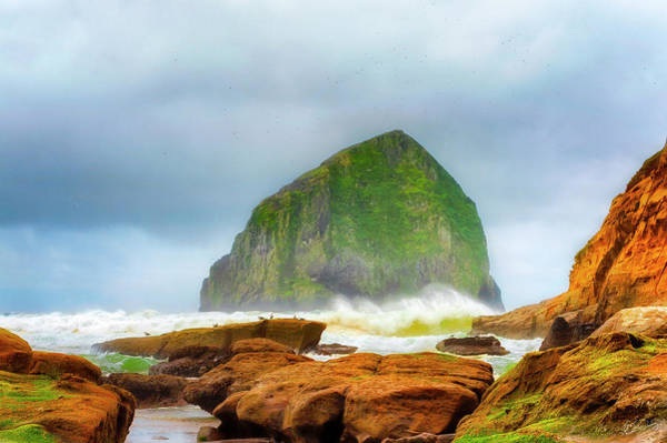 Art Print featuring the photograph Coastal Storm At Haystack by Dee Browning