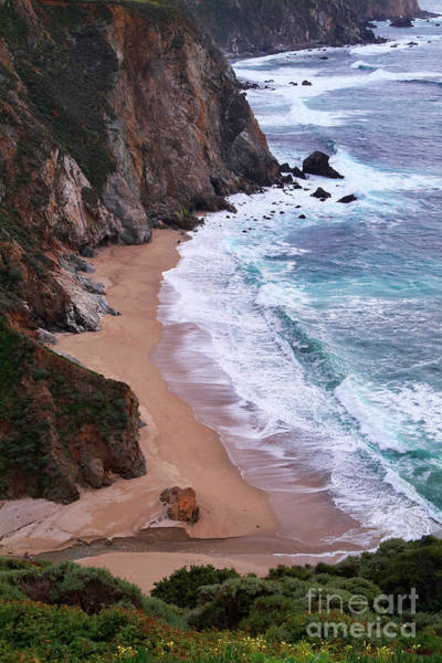 Photograph - Coastal View At Big Sur by Charlene Mitchell