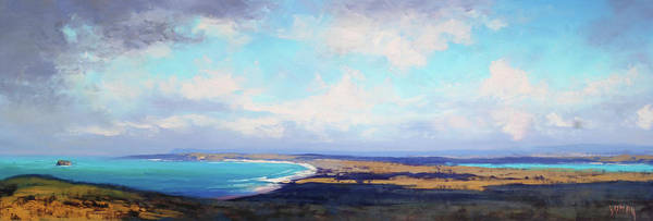 Beautiful Landscape Painting - Coastal Vista Nsw by Graham Gercken