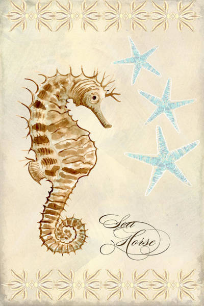 Wall Art - Painting - Coastal Waterways - Seahorse Dance by Audrey Jeanne Roberts