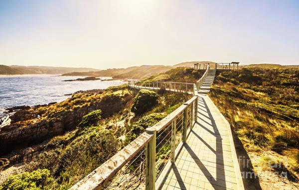 Boardwalk Photograph - Coastal Way by Jorgo Photography - Wall Art Gallery