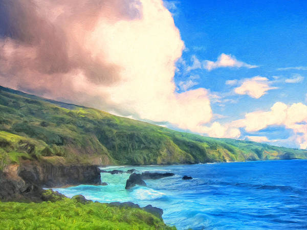 Painting - Coastline Near Oheo Maui by Dominic Piperata