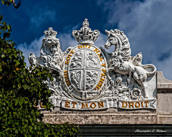 Photograph - Coat Of Arms by Christopher Holmes