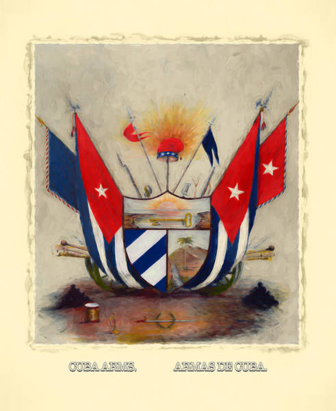 Digital Art - Coat Of Arms Of Cuba by Carlos Diaz