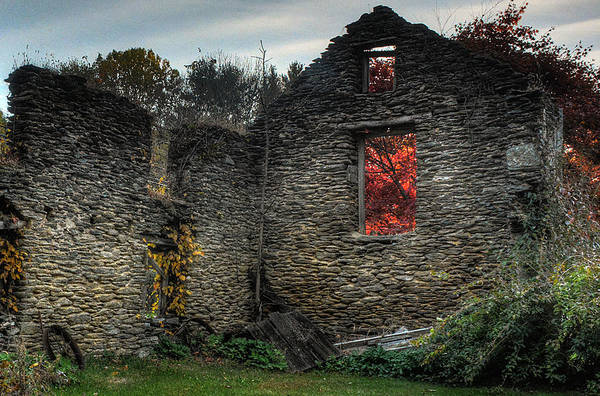 Photograph - Coatesville Ruins 1 by Michael Kirk