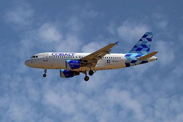 Wall Art - Photograph - Cobalt Air Airbus A319-112 1 by Smart Aviation