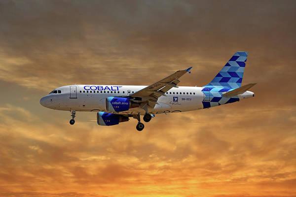 Wall Art - Photograph - Cobalt Air Airbus A319-112 2 by Smart Aviation