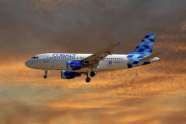 Wall Art - Photograph - Cobalt Air Airbus A319-112 3 by Smart Aviation