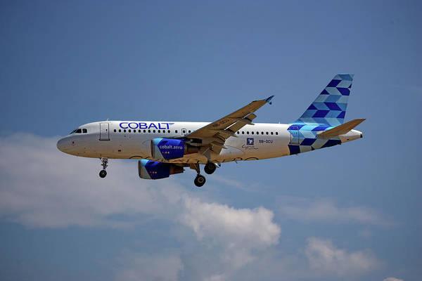 Wall Art - Photograph - Cobalt Air Airbus A319-112 4 by Smart Aviation