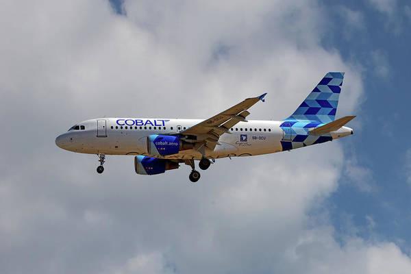 Wall Art - Photograph - Cobalt Air Airbus A319-112 5 by Smart Aviation