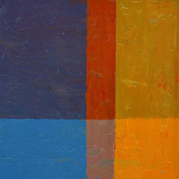 Painting - Cobalt Blue And Orange by Michelle Calkins