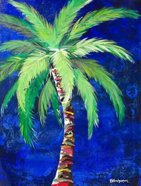 Cobalt Blue Palm II Art Print