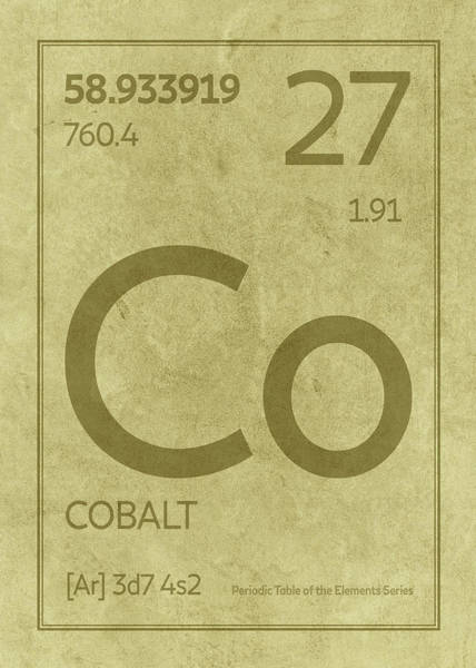 Elements Mixed Media - Cobalt Element Symbol Periodic Table Series 027 by Design Turnpike