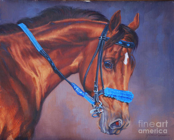 Wall Art - Painting - Cobalt Horse by JQ Licensing