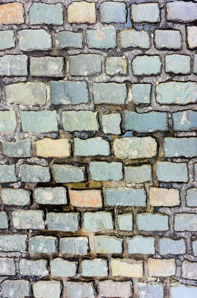 Photograph - Cobblestone Pattern by Les Palenik