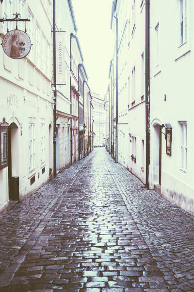 Wall Art - Photograph - Cobblestone Street In Prague by Pati Photography
