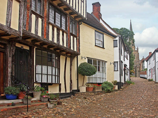 Photograph - Cobblestone Street Thaxted by Gill Billington