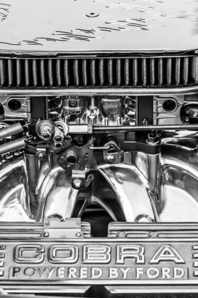Wall Art - Photograph - Cobra By Ford 427 Engine -ck178bw by Jill Reger