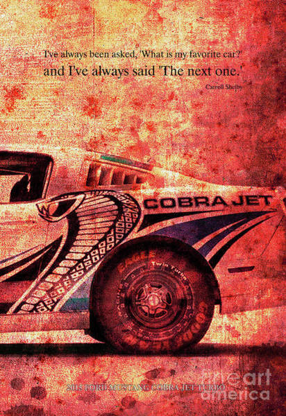Carroll Shelby Wall Art - Digital Art - Cobra by Drawspots Illustrations