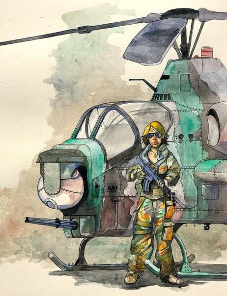 Helicopter Painting - Cobra Warfighter by Ray Agius