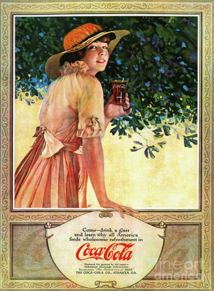 Photograph - Coca-cola Ad, 1907 by Granger