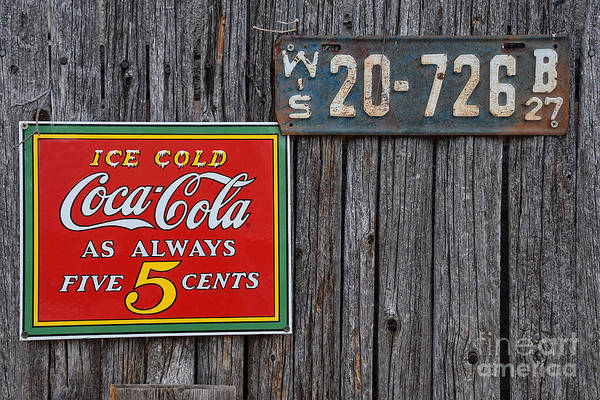 Wall Art - Photograph - Coca Cola - Always Five Cents by Mary Machare