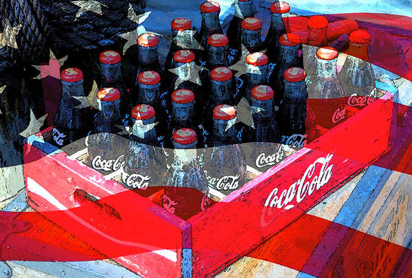 Wall Art - Painting - Coca Cola Americana by David Lee Thompson