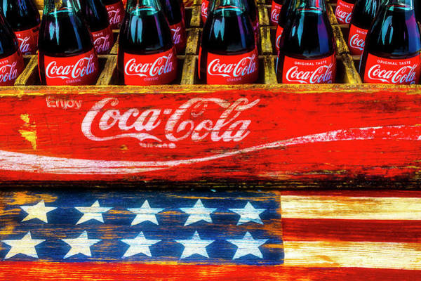 Wall Art - Photograph - Coca Cola And Wooden American Flag by Garry Gay