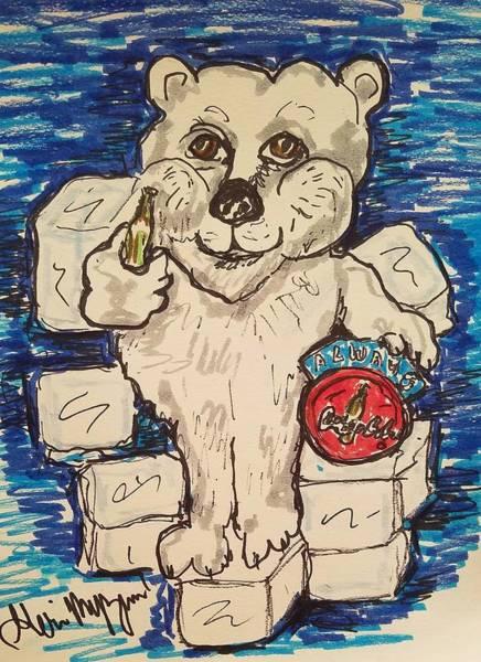 Soda Pop Painting - Coca Cola Bear by Geraldine Myszenski