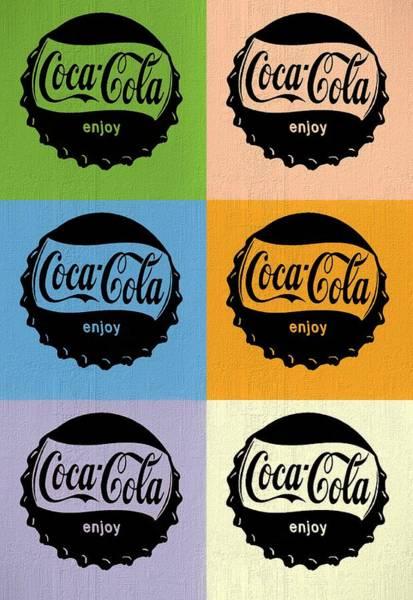 Soda Pop Mixed Media - Coca Cola Bottle Cap Pop Art by Dan Sproul