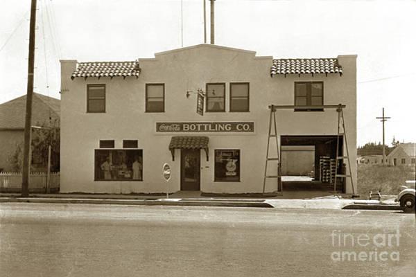 Photograph - Coca-cola Bottling Co. 251 W. Market, Salinas Circa 1955  by California Views Archives Mr Pat Hathaway Archives