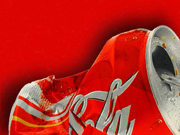Painting - Coca-cola Can Crush Red by Tony Rubino