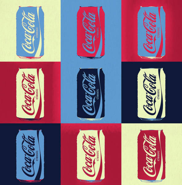 Wall Art - Painting - Coca Cola Can Pop Art by Dan Sproul