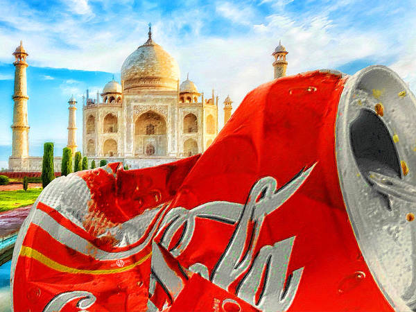 Painting - Coca-cola Can Trash Oh Yeah - And The Taj Mahal by Tony Rubino