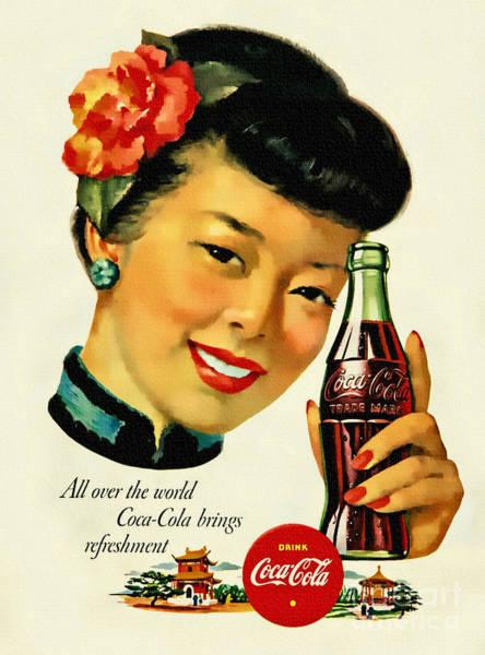 Soda Pop Painting - Coca - Cola - China 1940s by Ian Gledhill