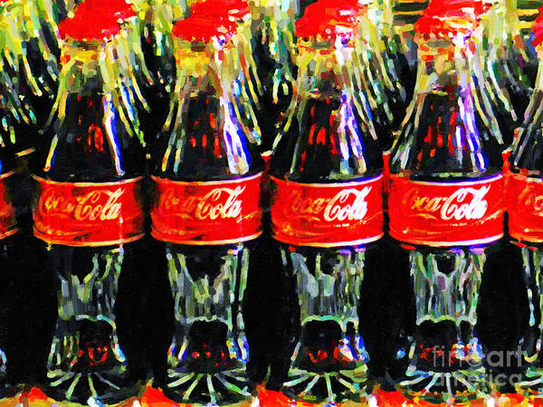 Nostalgia Digital Art - Coca Cola Coke Bottles by Wingsdomain Art and Photography