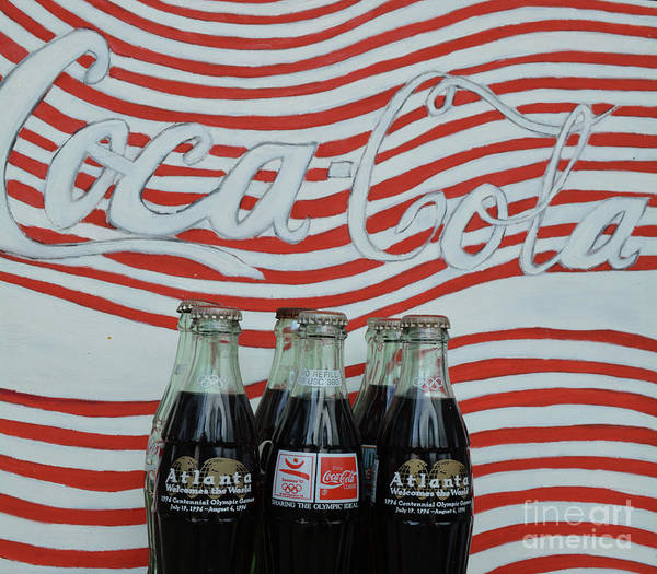 Soda Pop Mixed Media - Coca Cola Olympic Commemorative Bottles by To-Tam Gerwe