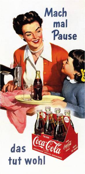Cool Mixed Media - Coca Cola - Vintage Soft Drinks Advertising Poster by Studio Grafiikka