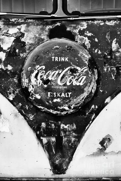 Wall Art - Photograph - Coca Cola Vw Split Screen Monochrome by Tim Gainey