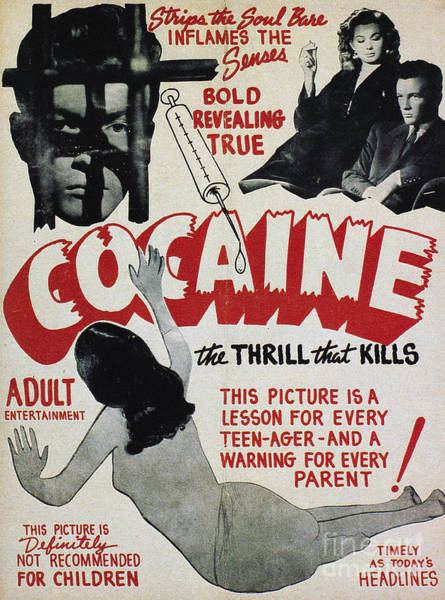 Photograph - Cocaine Movie Poster, 1940s by Granger