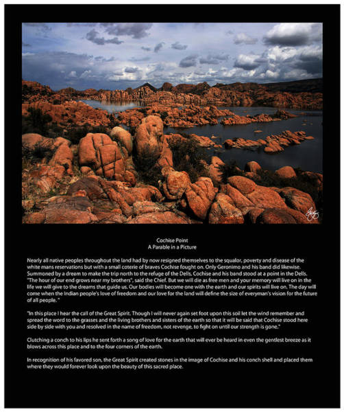 Photograph - Cochise Point Poster by Wayne King