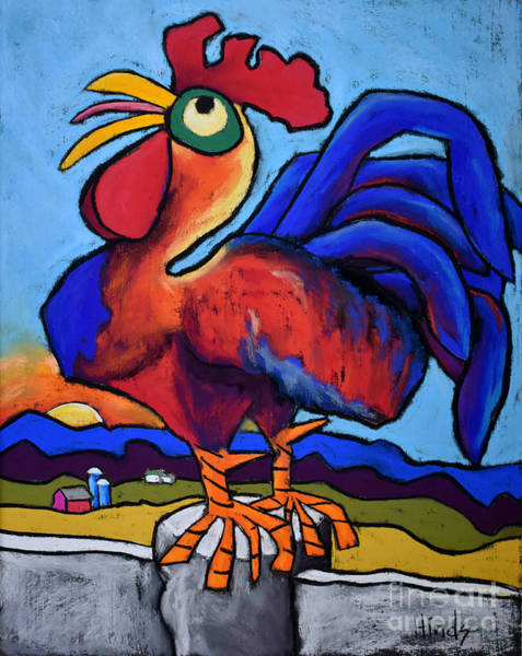 Barn Drawing - Cock A Doodle Doo by David Hinds