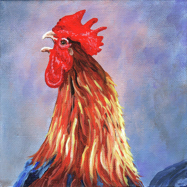 Wall Art - Painting - Cock-a-doodle-doo by Timithy L Gordon