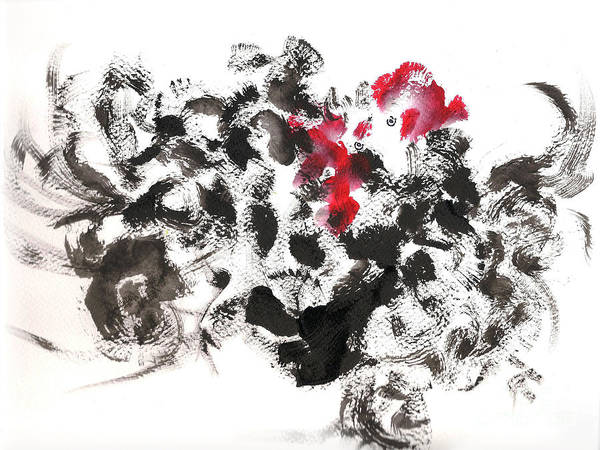 Painting - Cock Fight by Asha Sudhaker Shenoy